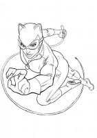 Disegno di Catwoman da colorare