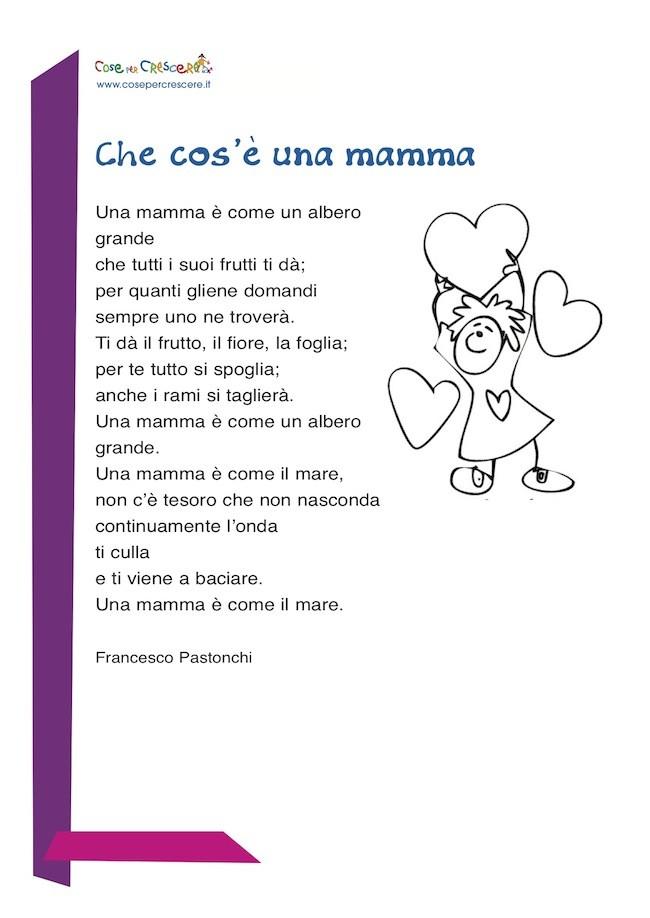 Eccezionale cos'è una mamma - poesia per la mamma IV93