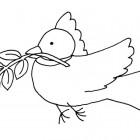 Disegno della colomba della pace