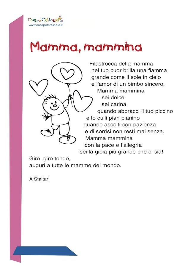 Mamma mammina - poesia per la mamma