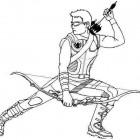Disegno di Occhio di Falco che carica il suo arco