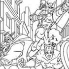 Disegno di Thor, Capitan America e Occhio di Falco