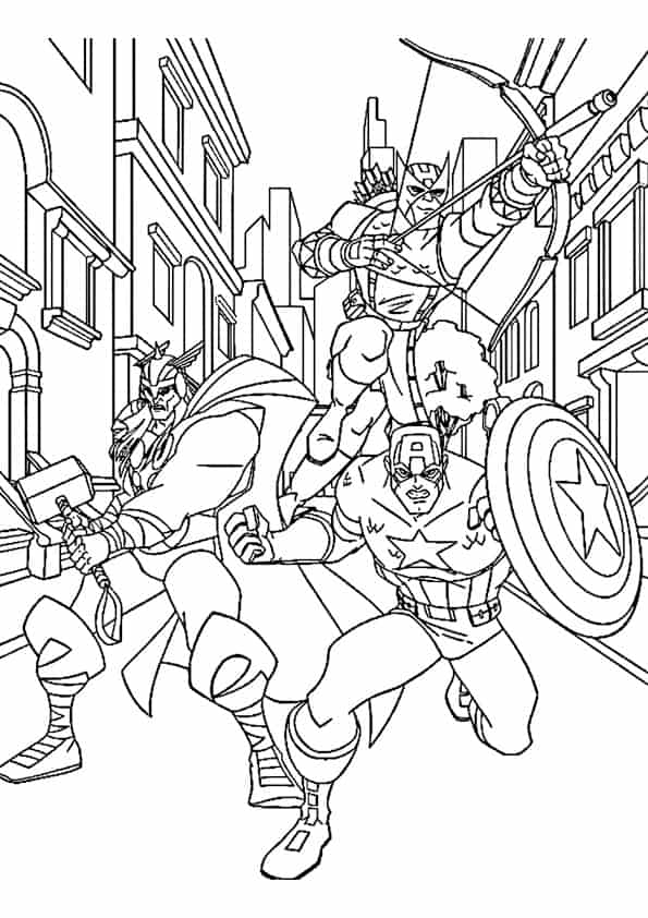 Disegno Di Thor Capitan America E Occhio Di Falco Cose Per Crescere