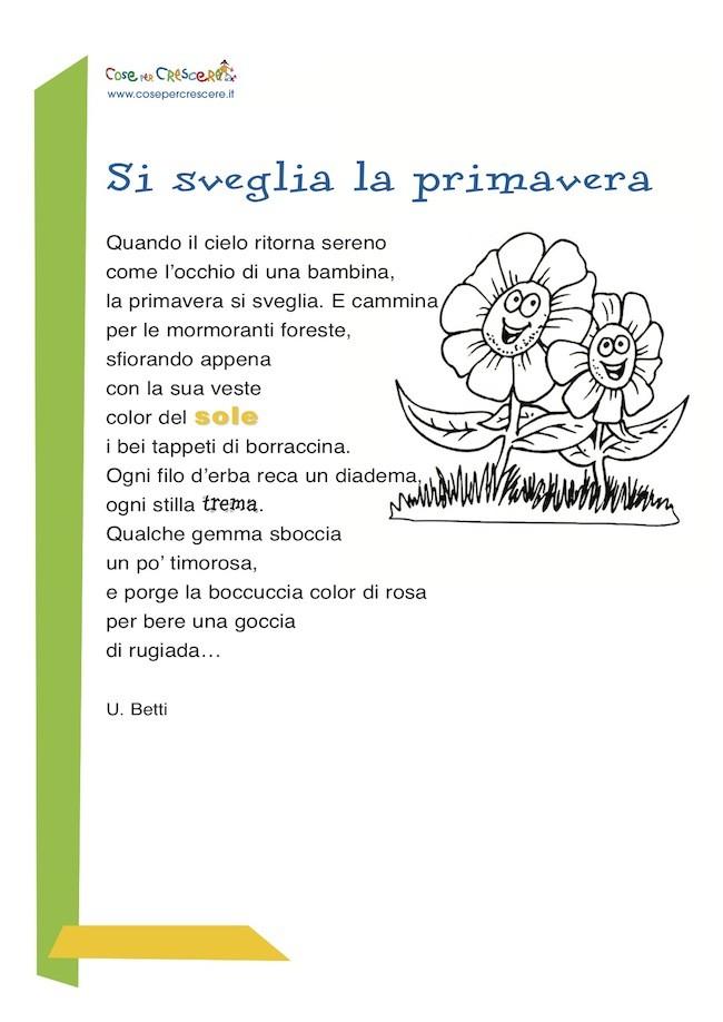 Poesia per bambini sulla primavera
