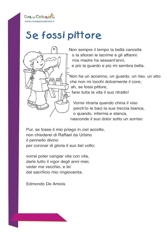 Top Se fossi pittore: poesia per la mamma RW37