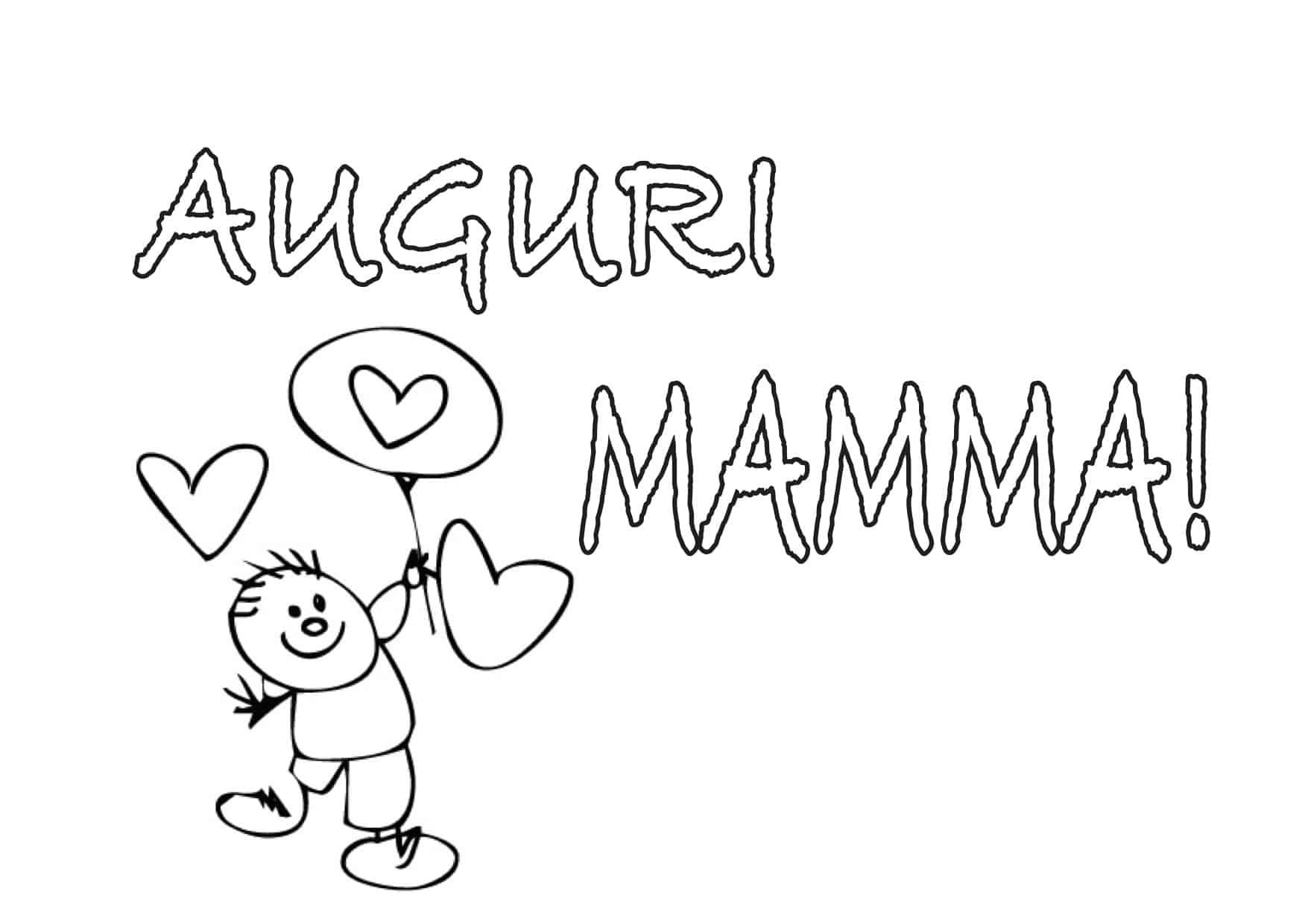 Disegno auguri mamma