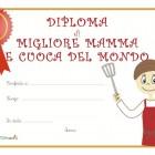 Diploma di mamma grande cuoca