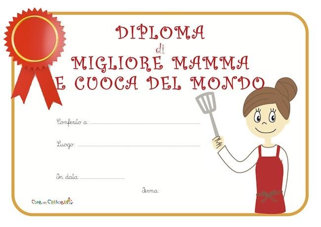 Diploma di migliore mamma e cuoca