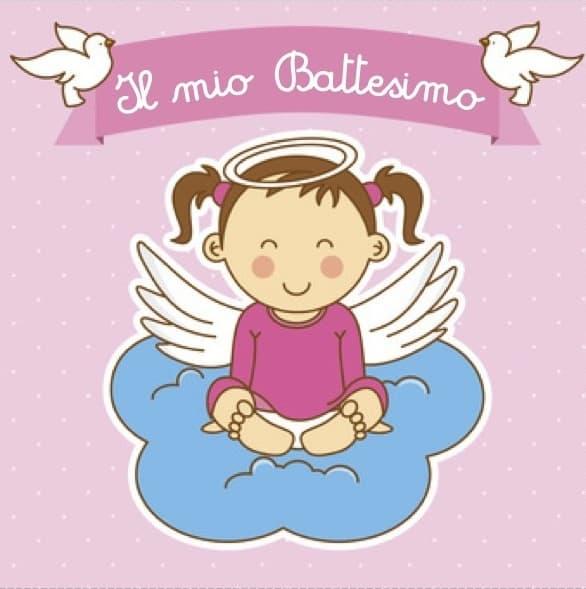 Super Invito al battesimo bambina - Cose Per Crescere GA22