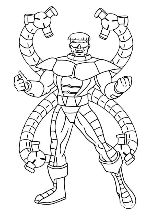 Spiderman Disegni Da Colorare Con Dottor Octopus Spiderman Auto