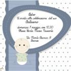 Biglietto invito battesimo bambino