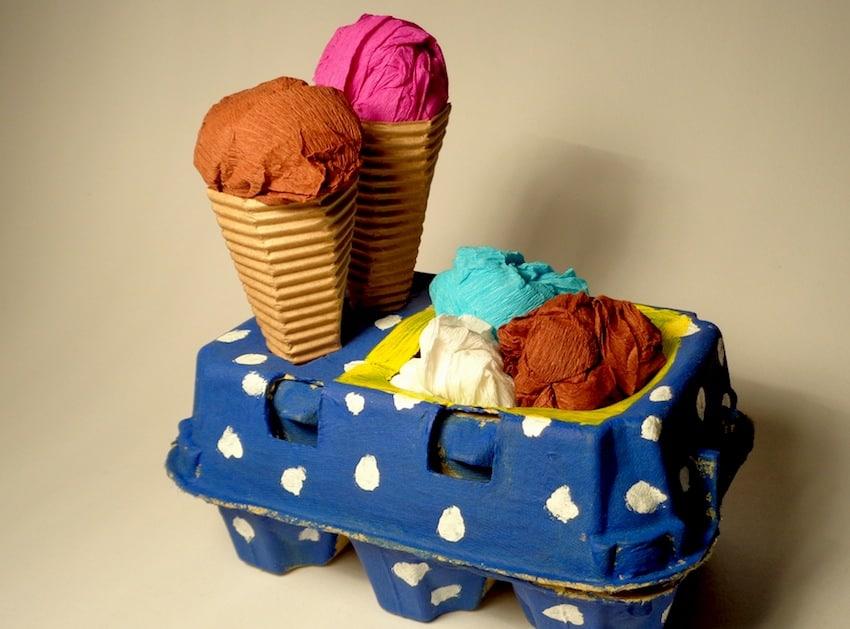 Banchetto dei gelati: gioco per bambini fai da te