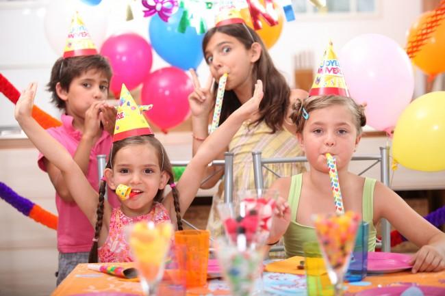 children at birthday part