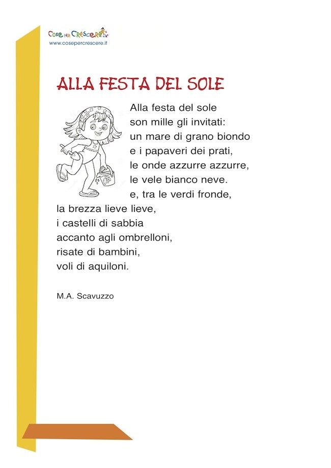 Festa del sole - poesia sull'estate