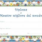 Diploma di maestra migliore del mondo!