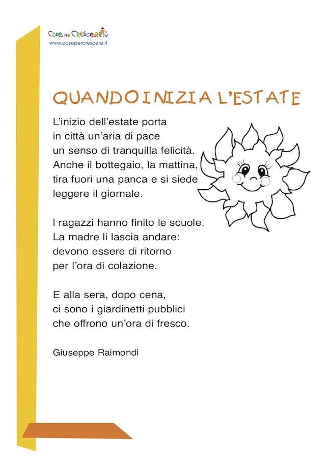 poesia sull'estate