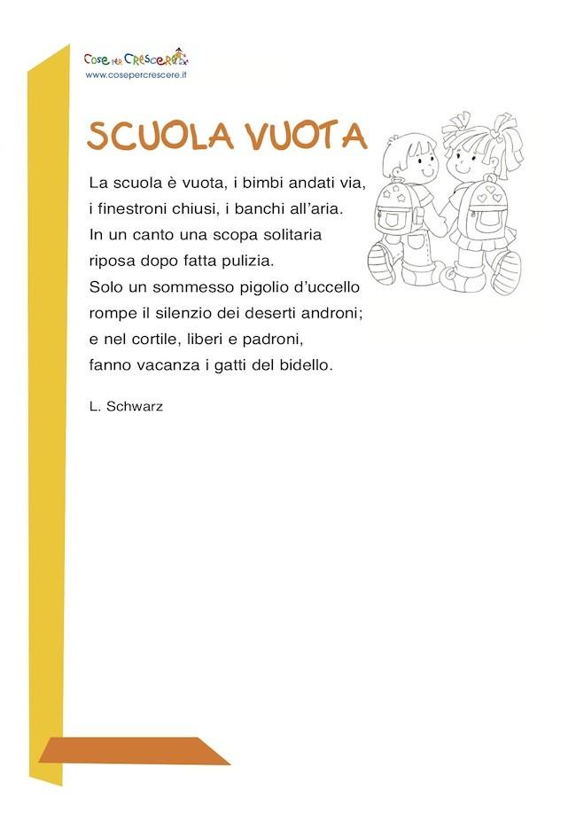 Scuola vuota - Poesia per bambini