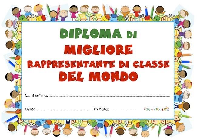 Diploma migliore rappresentante di classe