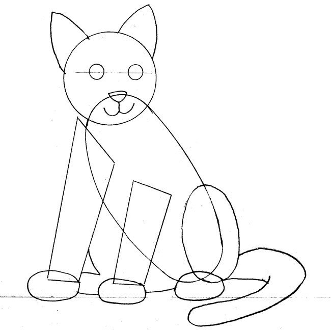 disegnare gatto_10 sm