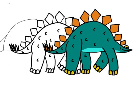 disegnare-stegosauro-ev