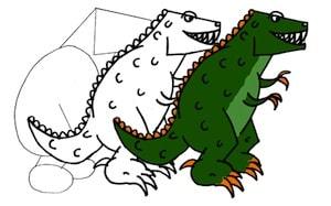 disegnare-tirranosauro-ev