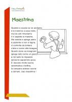 Maestrina Poesia Per Bambini Sulla Scuola