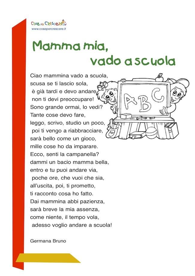 Poesia sulla scuola per bambini