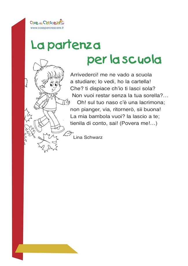 poesia primo giorno di scuola