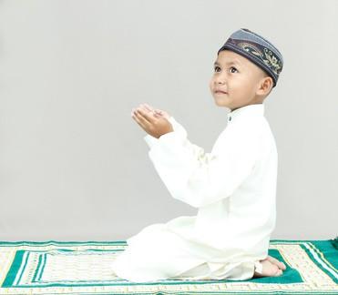 Muslim movements while praying.