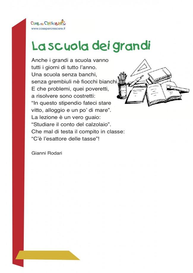 Poesia per bambini sulla scuola
