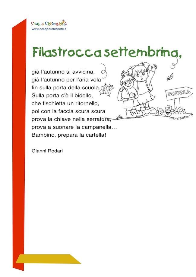 Filastrocca Settembrina Filastrocca Sulla Scuola