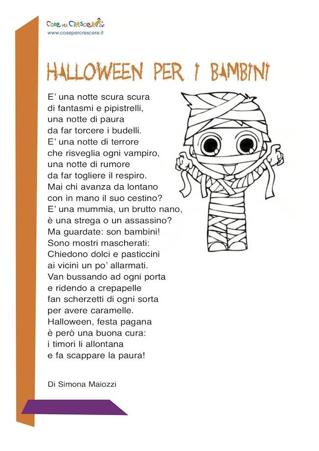 Poesia su Halloween per bambini