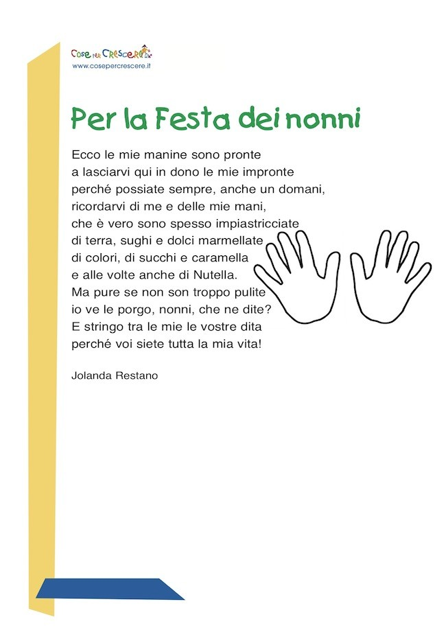 Conosciuto Per la Festa dei nonni: poesia per i nonni HL59