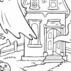 Casa stregata da colorare