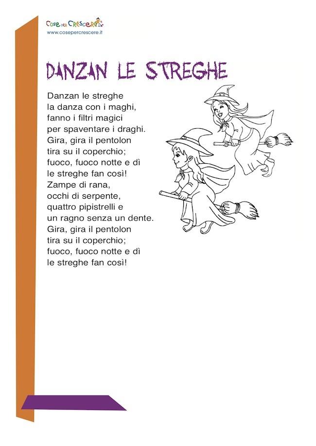 Poesia sulle streghe per bambini