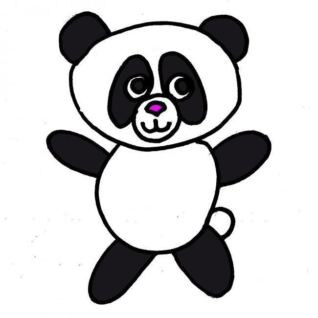 disegnare-panda