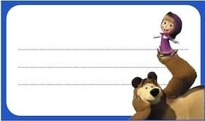 Etichette con Masha e Orso