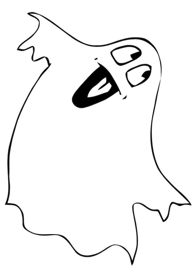 Disegno di un fantasma felice cose per crescere for Fantasmi disegni da colorare
