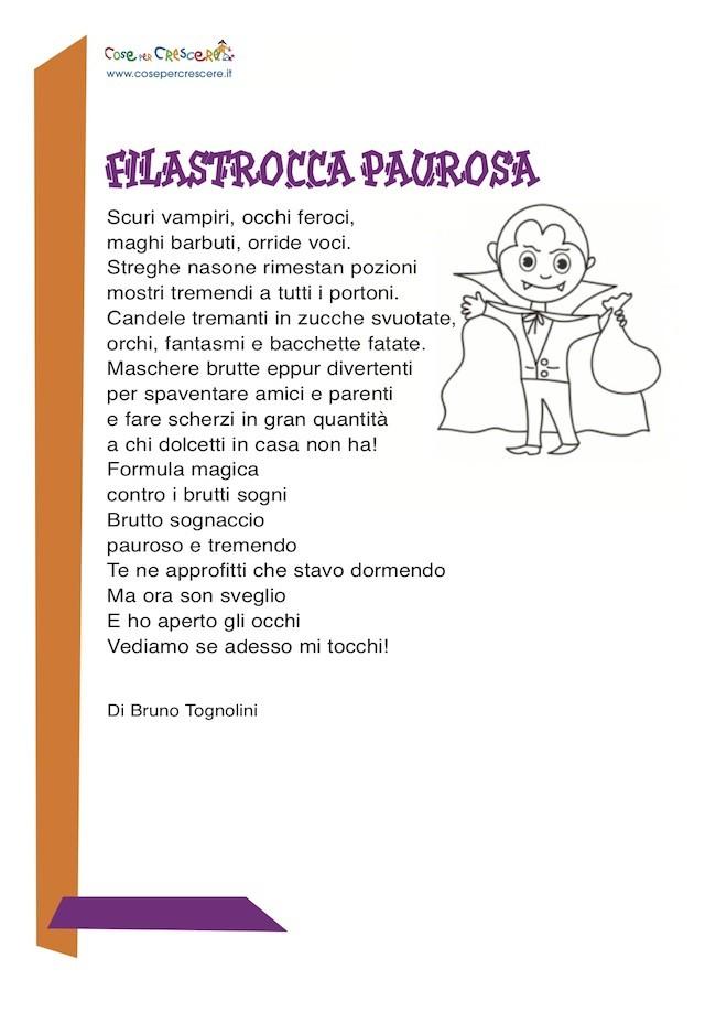 Famoso Filastrocca paurosa - Cose Per Crescere FD72