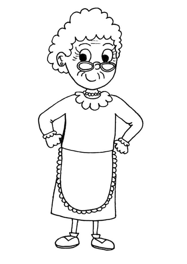 Nonna da colorare