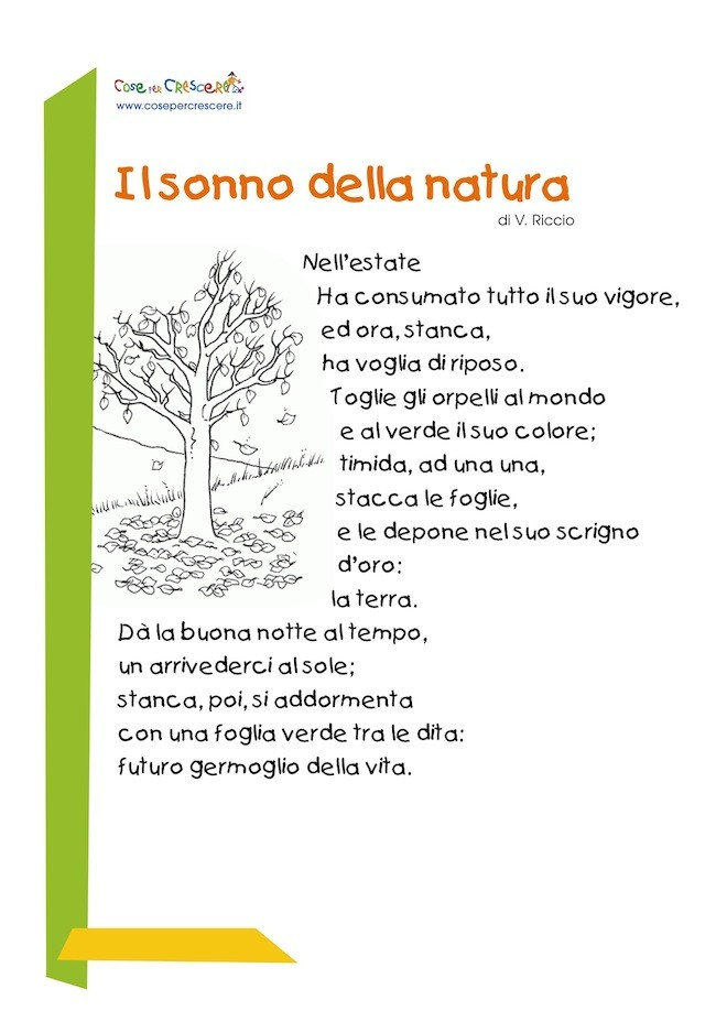 Poesia sull'autunno scuola primaria