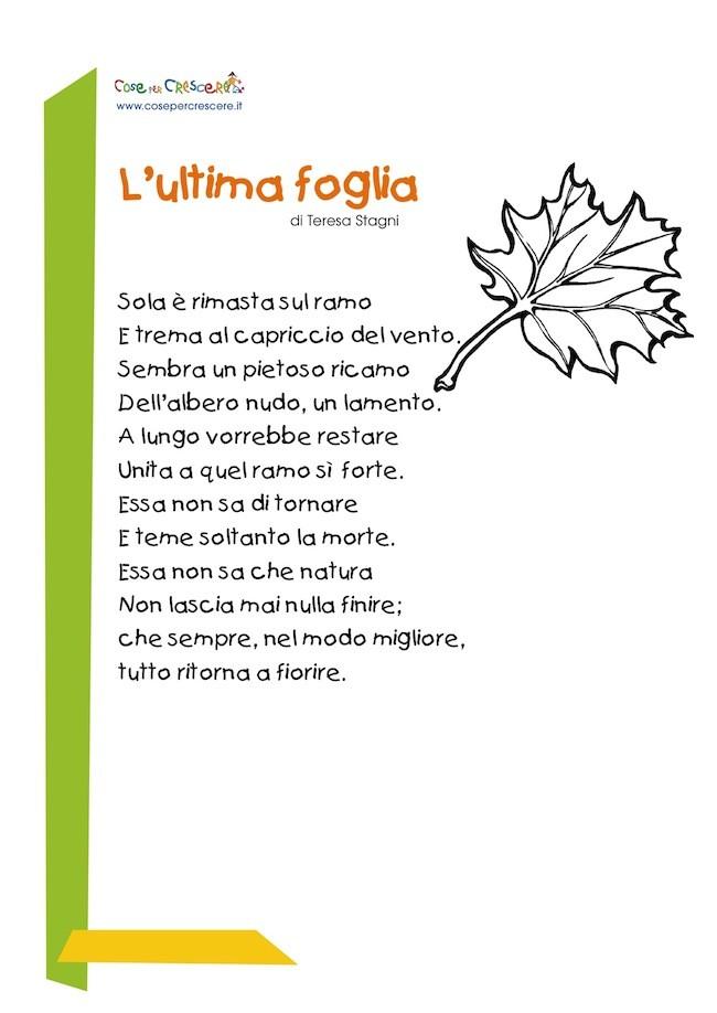 Ultima foglia: poesia sull'autunno