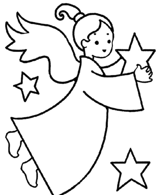 Angelo da colorare cose per crescere for Disegni di angeli da colorare per bambini