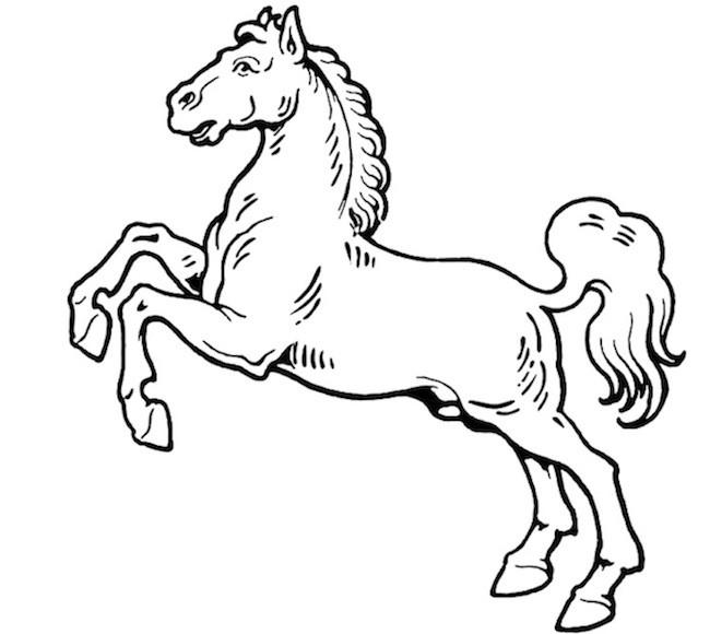 Favorito Disegno di cavallo impennato - Cose Per Crescere OO79