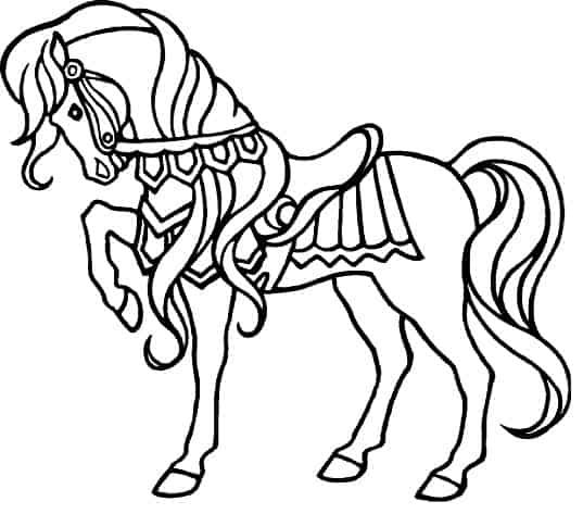 Disegno di cavallo da colorare