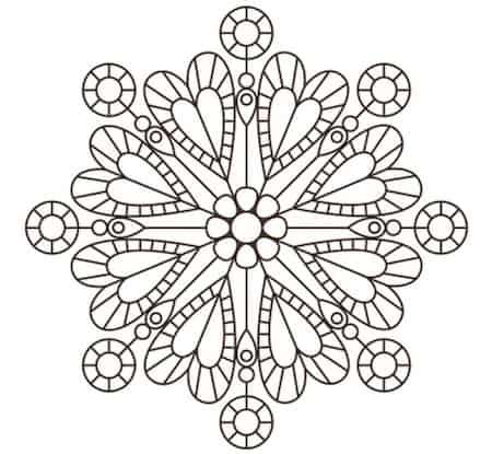 Mandala per bambini con cuori for Mandala da colorare con animali