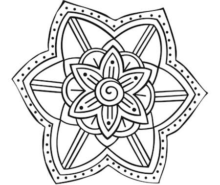 Mandala fiore mandala da colorare per bambini for Disegni di mandala semplici