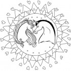 Mandala degli unicorni
