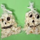 Teschi pop corn per Halloween