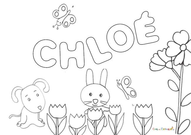Nome Chloé da colorare
